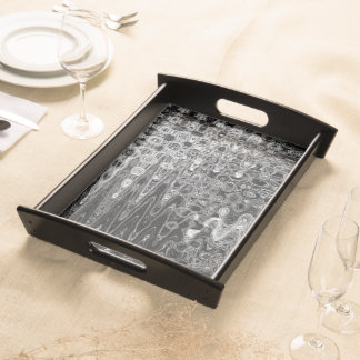 Ink & Echo I Large Serving Tray by C.L. Brown