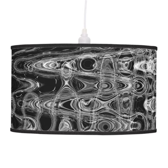 Ink & Echo I Pendant Lamp by Artist C.L. Brown