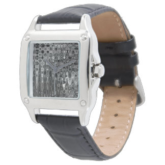 Ink & Echo I Women's Black Leather Watch