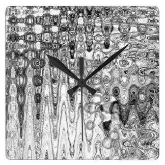 Ink & Echo II Square Clock by Artist C.L. Brown