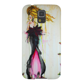 ink girl watercolor dress galaxy s5 cover