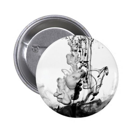 Ink in Water Abstract Photograph Pinback Buttons