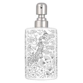 Ink: JAPAN Toothbrush Holder & Soap Dispenser Set