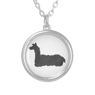 Ink Llama Silver Plated Necklace