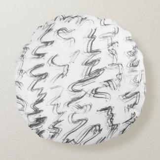 INK   minimal loft design Round Pillow