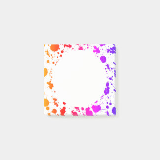 Ink Paint Splash Splatter Colorful Bright Rainbow Post-it Notes