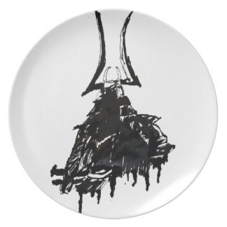 Ink Samurai 1 Party Plate