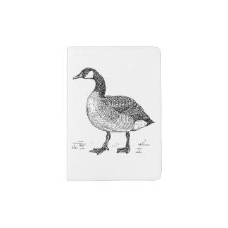 Ink Sketch Goose Design Passport Holder