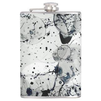 Ink Splatter Abstract Art Flask