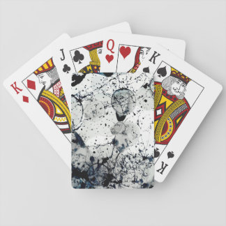Ink Splatter Abstract Art Poker Deck