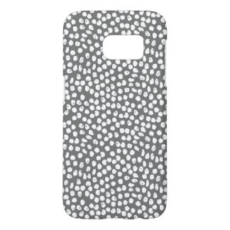 Ink Spot - Charcoal/White / Andrea Lauren Samsung Galaxy S7 Case