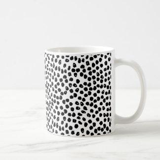 Ink Spots - White/Black / Andrea Lauren Coffee Mug