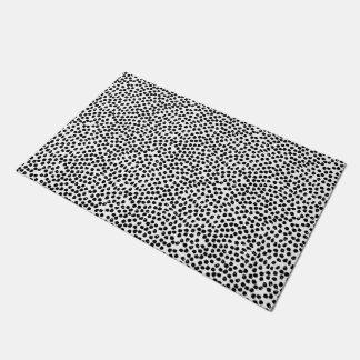 Ink Spots - White/Black / Andrea Lauren Doormat