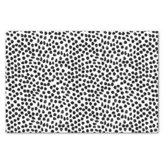 Ink Spots - White/Black / Andrea Lauren Tissue Paper