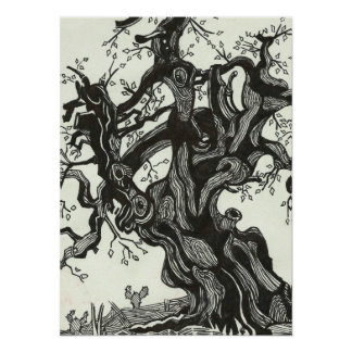 Ink Tree Poster