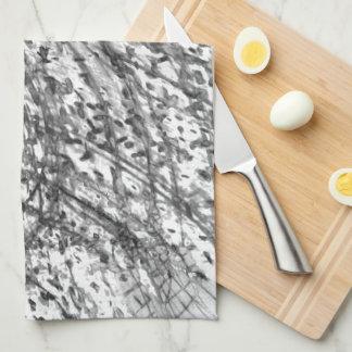 Ink Wash Kitchen Towel by Artist C.L. Brown