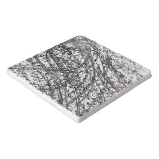 Ink Wash Marble Trivet by Artist C.L. Brown