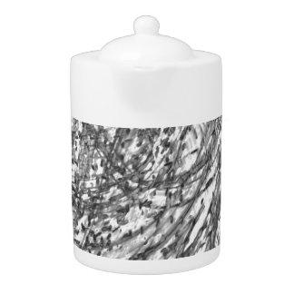 Ink Wash Porcelain Tea Pot by Artist C.L. Brown