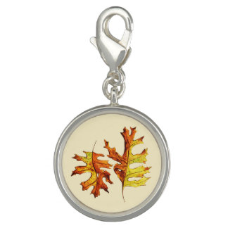 Ink Watercolor Painted Autumn Leaves Nature Lover Photo Charm