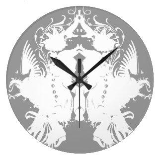 Inkblot Large Clock