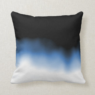 Inkblot Ombre Blue Throw Pillow