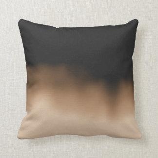 Inkblot Ombre Sepia Throw Pillow