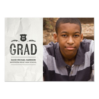 Inked | 2017 Photo Graduation Party Card