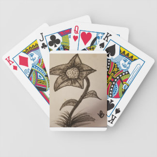 inked flower #1. bicycle playing cards