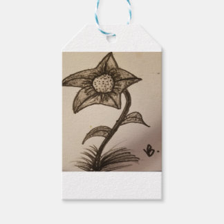inked flower #1. gift tags