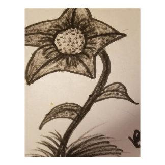 inked flower #1. letterhead