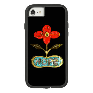 Inked Flower of Hope iPhone 7 Case. Case-Mate Tough Extreme iPhone 8/7 Case