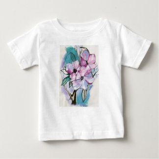 Inked Flowers Baby T-Shirt