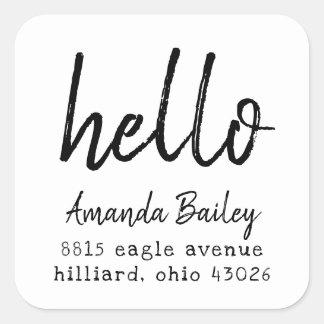 Inked Hello Return Address Label
