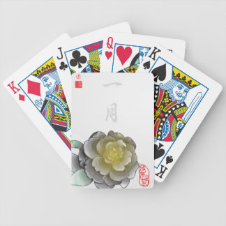 Inked Petals of a Year - January Bicycle Playing Cards