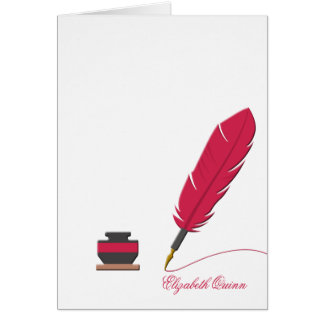 Inkwell and Feather Pen Stationery Photo Notecard