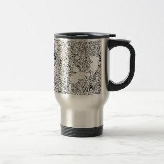 Inky Black and White -Otter Travel Mug