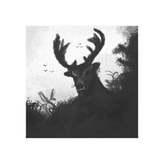Inky Buck In The Woods Canvas Print