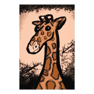Inky Cartoon Giraffe Stationery