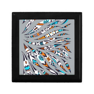 Inky Funky Pattern Art Grey Gift Box