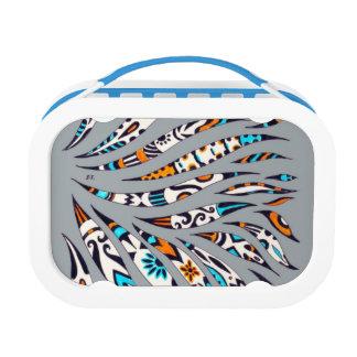 Inky Funky Pattern Art Grey Lunch Box