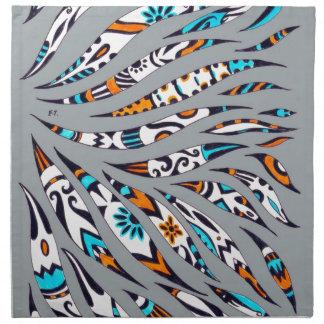 Inky Funky Pattern Art Grey Napkin