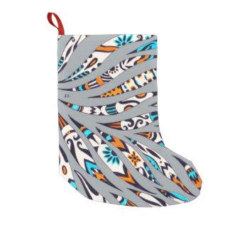 Inky Funky Pattern Art Grey Small Christmas Stocking