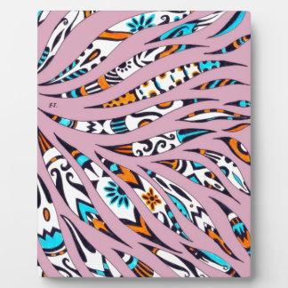 Inky Funky Pattern Art Pink Plaque