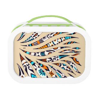 Inky Funky pattern beige Lunch Box