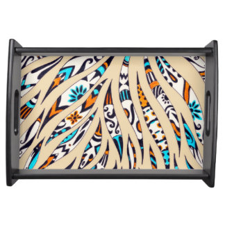 Inky Funky pattern beige Serving Tray