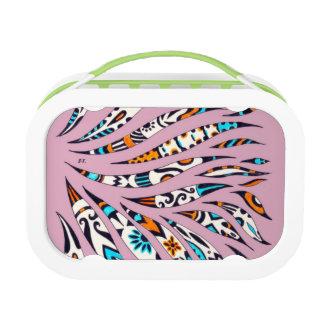 Inky Funky Pattern Scribble Pink Lunch Box