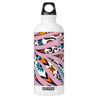 Inky Funky Pattern Scribble Pink Water Bottle