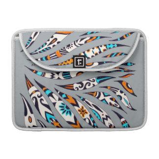 Inky Funky Scribble Pattern Grey Sleeve For MacBooks