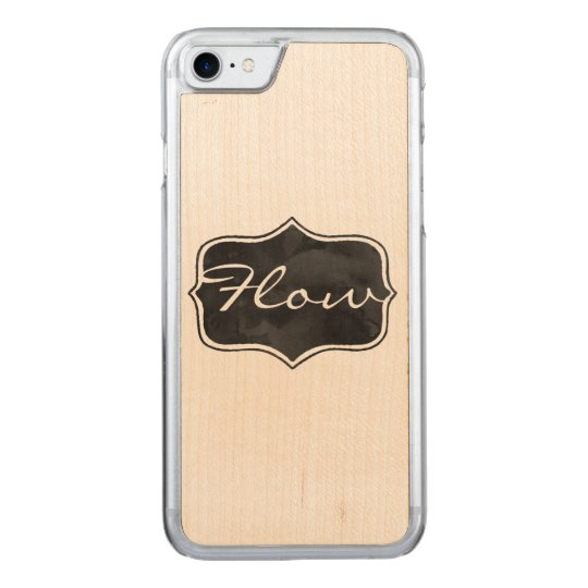 Inky Label Flow Carved iPhone 7 Case