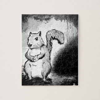 Inky Squirrel Jigsaw Puzzle
